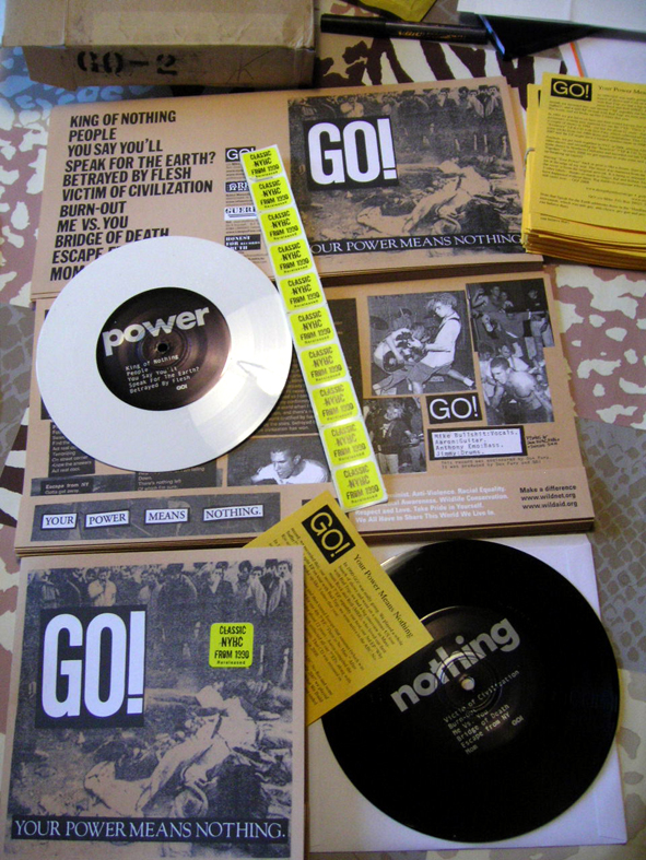 "GV 007 - GO ! ""Your power means nothing"" 7"" official re-issue 2008"